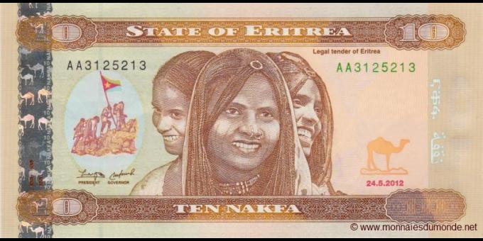 Érythrée - p09 - 10 nakfa - 24.08.2012 - Bank of Eritrea
