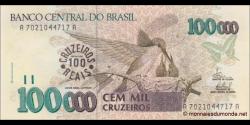 Brésil-p238-100 cruzeiro reais-1993