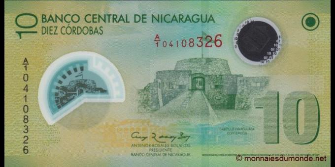 Nicaragua-p201a-10 cordobas-2007