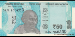 Inde - p109a - 50 Roupies - 2017 - Reserve Bank of India