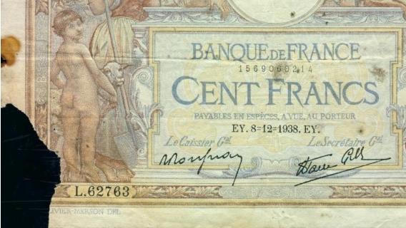 p086b - 100 Francs - 08.12.1938 - Banque de France